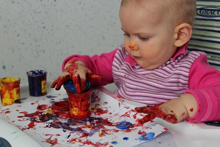 Занятия  с годовалым ребенком