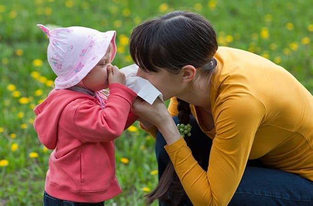 Аллергия у ребенка на цветение