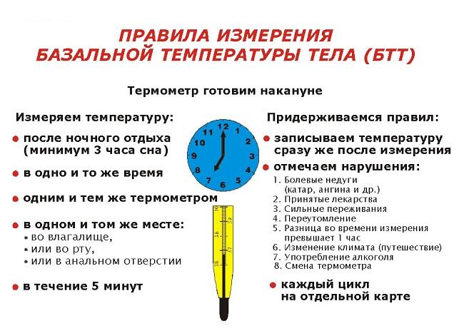 Измерение базальной температуры