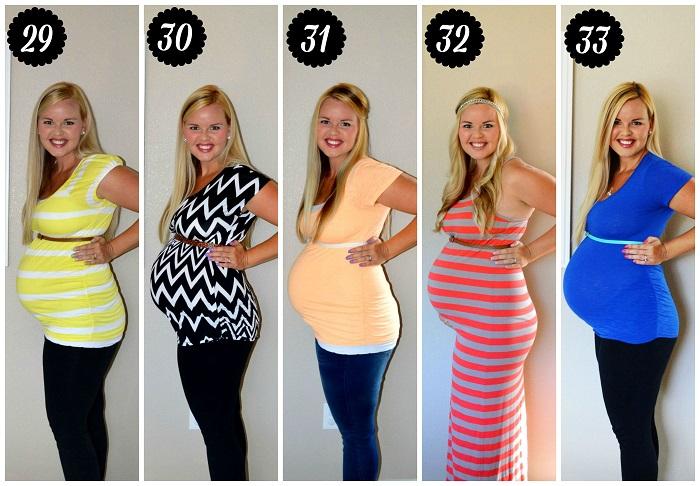 На каком месяце беременности появляется живот Когда начинает расти живот при беременности Беременность Беременность по неделям