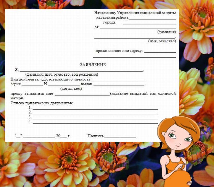 Документ удостоверяющий статус матери одиночки