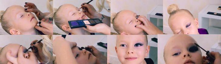 Макияж для девочек: как cделать мейкап детям для утренников, детская косметика